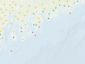 Screen capture from Vulnerability and Resilience of Fishing Communities: Indicator Map