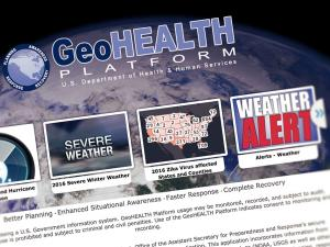 Screen capture from the GeoHEALTH Platform