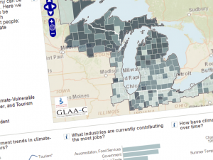 Screenshot from the Great Lakes Climate Atlas
