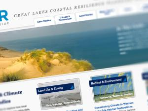Screen capture from the Great Lakes Coastal Resilience Planning website