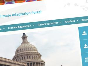 Screen capture from Hawai'i Climate Adaptation Portal