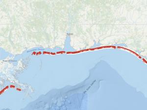 Screen capture from the Hurricane-Induced Coastal Erosion Hazards tool