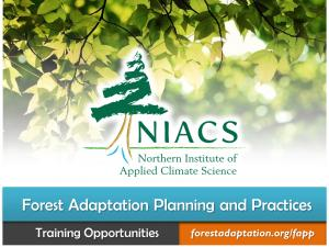 Screenshot of the Forest Adaptation Planning and Practices home page