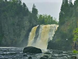 High Falls, Baptism River, Superior National Forest, Minnesota