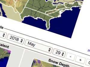 Screen capture from National Snow Analyses
