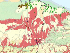 Screen capture from North Slope Science Initiative-Permafrost Data