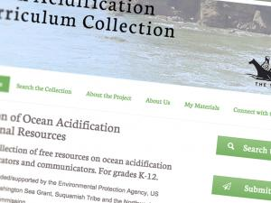 Screen capture of the Ocean Acidification Curriculum Connection website