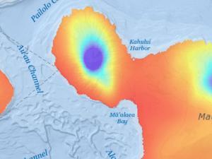 Screen capture from Rainfall Atlas of Hawaiʻi