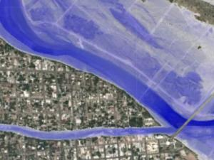 Screen capture from the Inundation Mapping Interface tool
