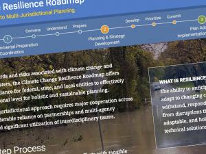 Screen capture from Climate Change Resilience Roadmap