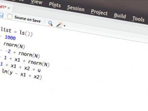 Screenshot from R Studio