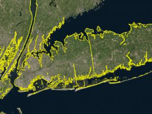 Screen capture from the Sea Level Rise Tool for Sandy Recovery