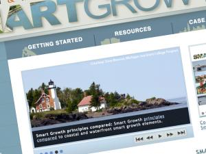 Screen capture from the SmartGrowth website