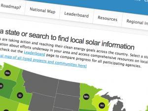 Screenshot from Solar Roadmap