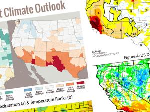 Screen capture from Southwest Climate Outlook (SWCO)