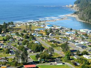 Quinault Village of Taholah on the Pacific Coast, October 2009