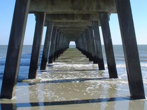 The Tybee Island pier on Tybee Island