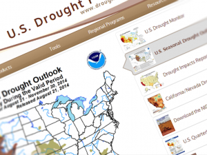 Screen capture from the U.S. Drought Portal website