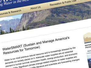 Screen capture from the West-Wide Climate Risk Assessments website