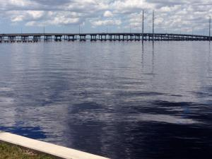 Barron Collier Bridge from Laishley Park in Punta Gorda, Florida