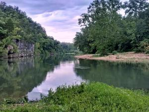 The Meramec River running past Onondaga Cave State Park in Missouri.