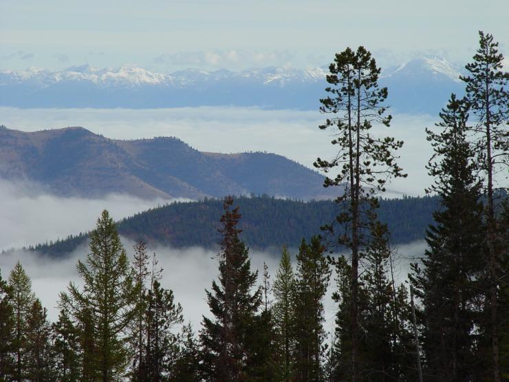 Landscape of Mission Valley in northwestern Montana