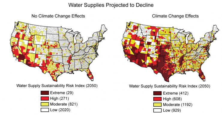 Water Supplies Projected to Decline