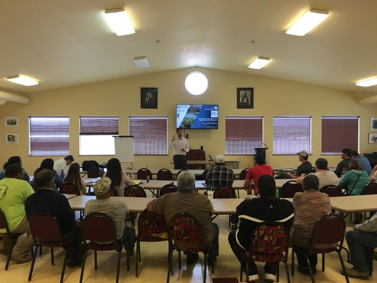 Climate change workshop on the Burns Paiute Reservation