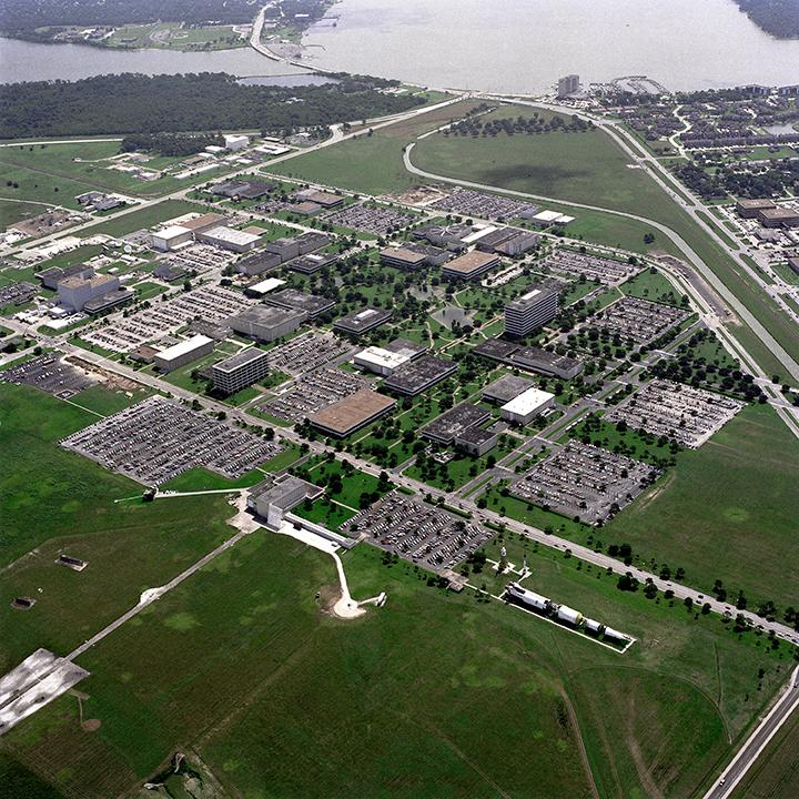Photo of NASA's Johnson Space Center facility in Houston, Texas