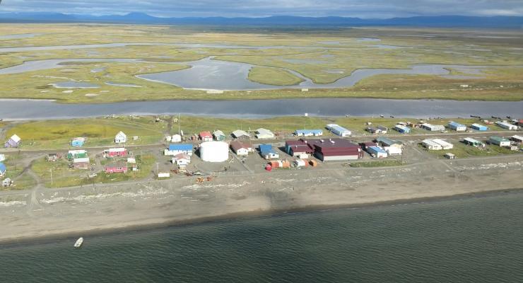 An aerial view of Shaktoolik