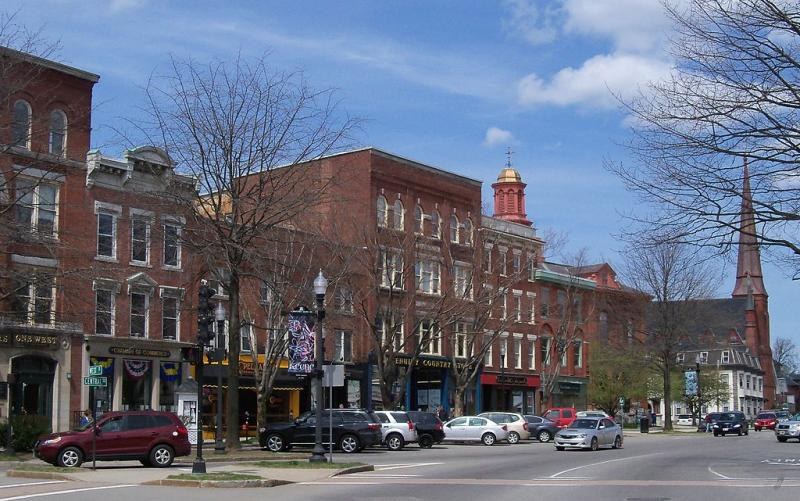Main Street in downtown Keene, New Hampshire