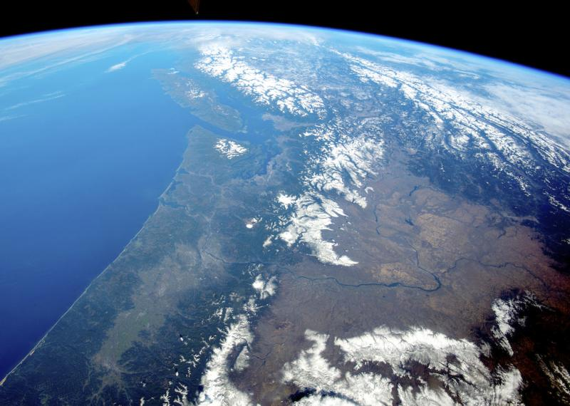 View of the Pacific Northwest