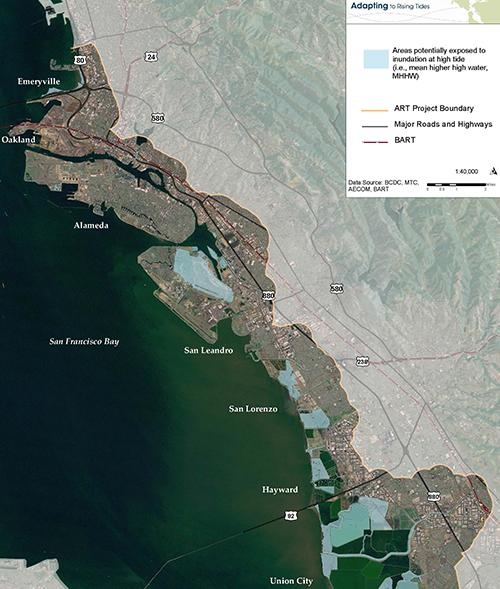 Sea Level Rise Map for the San Francisco Bay