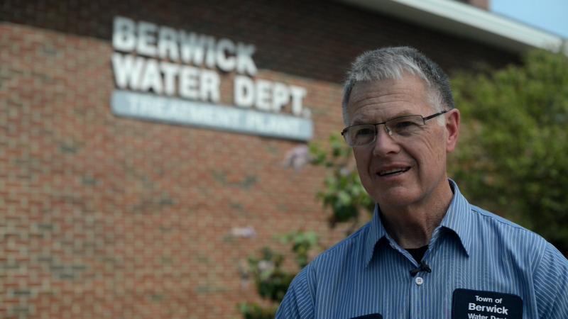 Chris Weismann of the Berwick, Maine, Water Department
