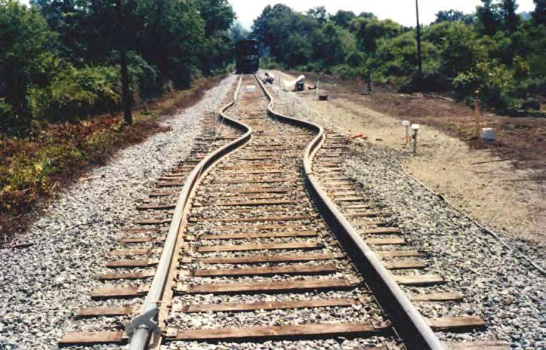 Photo of railroad tracks bent by thermal expansion