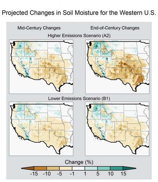Projected Changes in Soil Moisture in the Western United States