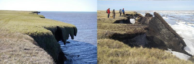 Coastal Erosion at Drew Point, Alaska