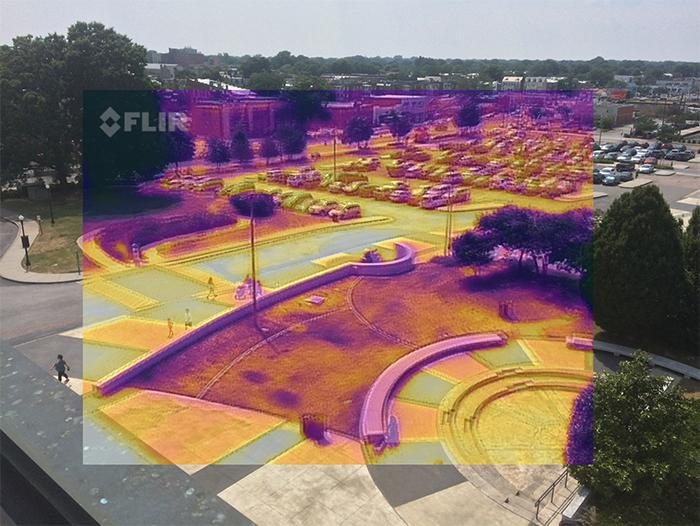 Photo of a Richmond park taken with a FLIR camera