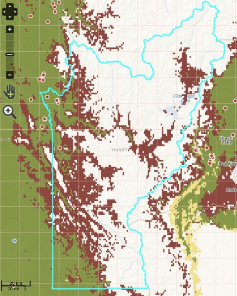 Screenshot from the CalWeedMapper