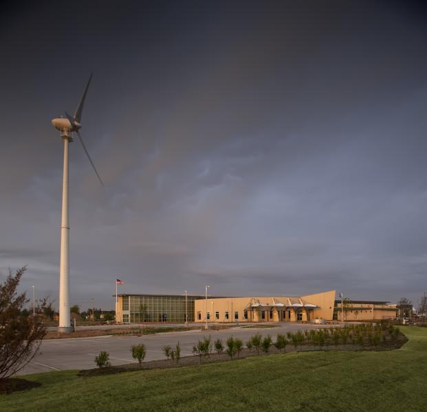 Wind turbine at Kiowa County Memorial Hospital