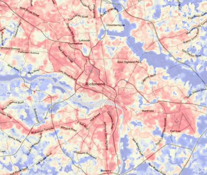Richmond Temperature Map U S Climate Resilience Toolkit