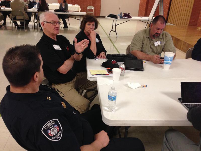 City staff in Miami, OK, having a discussion