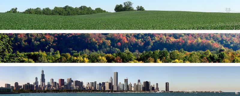 Scenes from the Midwest: Agriculture, Forests, Cities