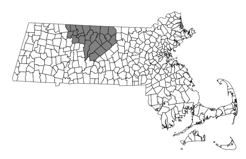 Map showing area of North Quabbin Regional Landscape Partnership