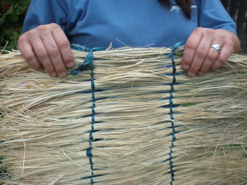 Mat woven from bear grass