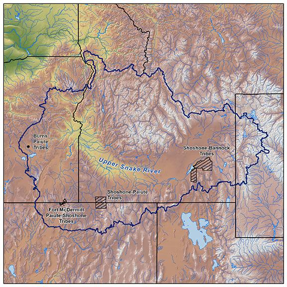 Map of the Upper Snake River Tribes Foundation study area
