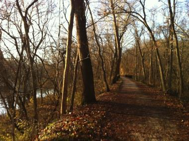 A trail in the Meramec Greenway.
