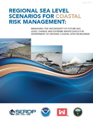 Cover of the Regional Sea Level Scenarios for Coastal Risk Management report