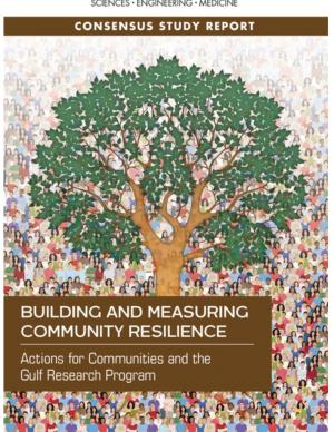 Cover of report with tree and people