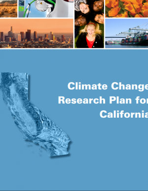 Cover of the Climate Change Research Plan for California